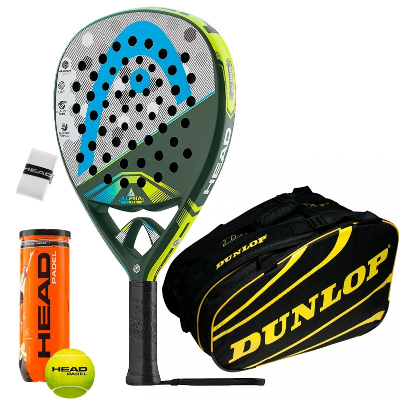 Pack Head Graphene Touch Alpha Elite Dunlop Amarillo