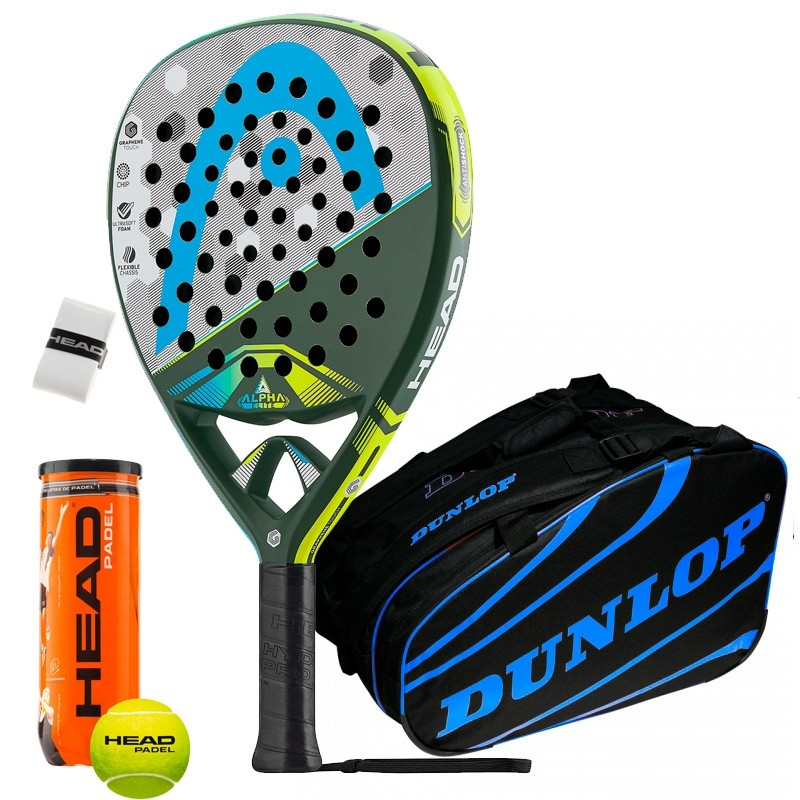 Pack Head Graphene Touch Alpha Elite Dunlop Azul