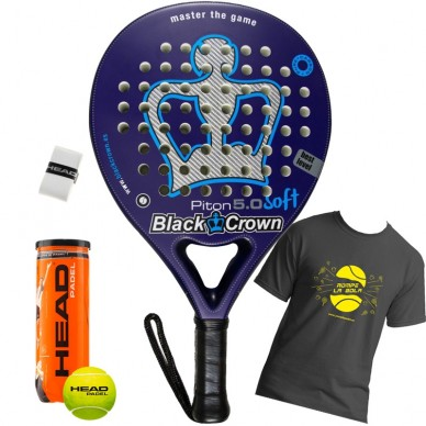 Palas de padel Black Crown Piton 5.0 Soft 2017
