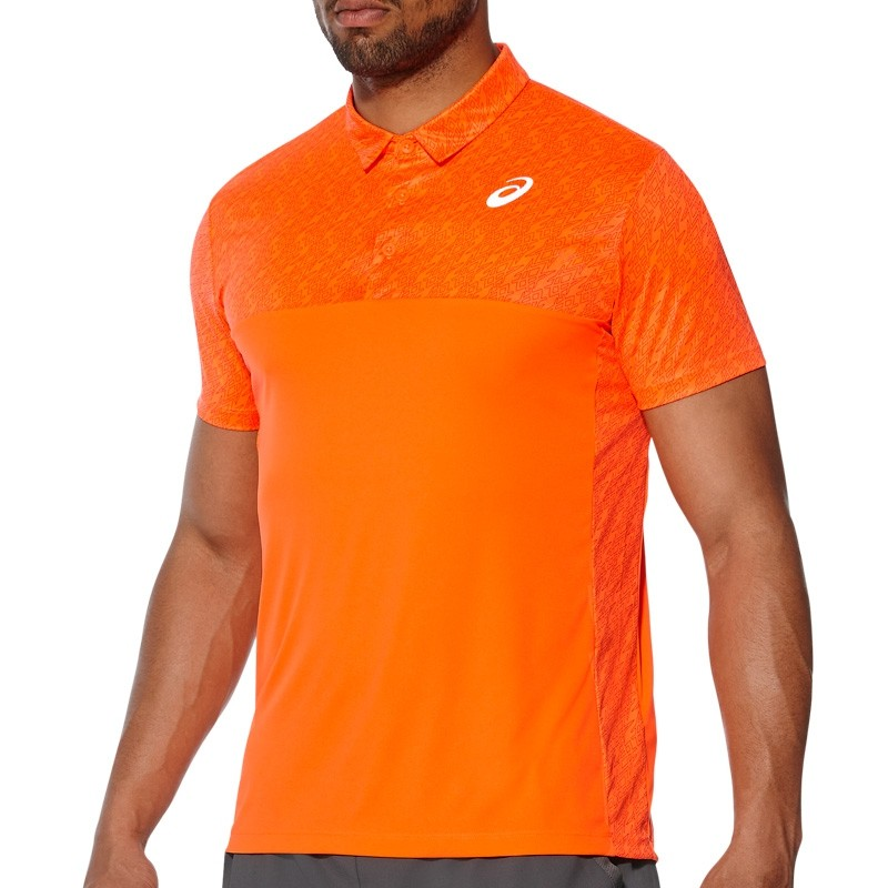 Polo Asics Padel Player GPX Shocking Orange