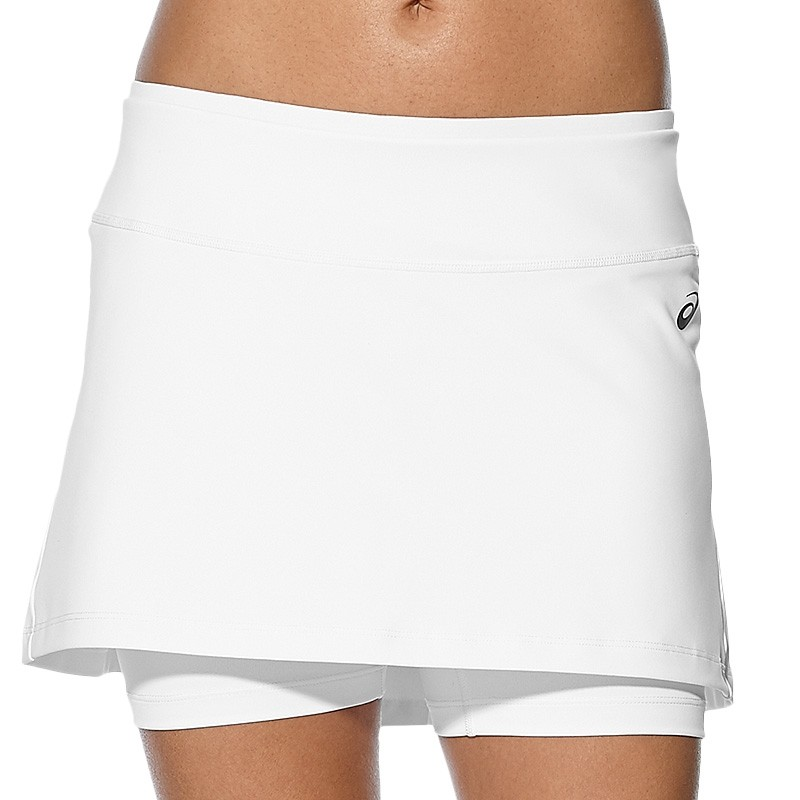Falda Asics W Club Booty Skort Real White