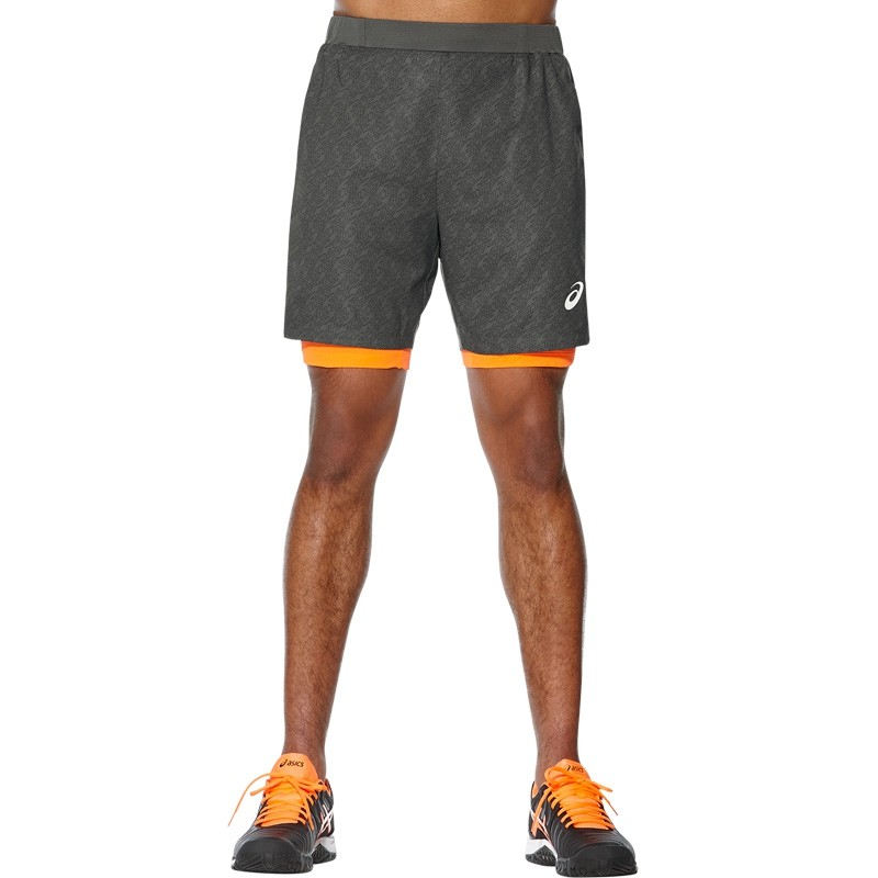 Pantalón Asics Padel Player GPX II Short 7IN 2IN1 Dark Grey 2017 : Talla - M