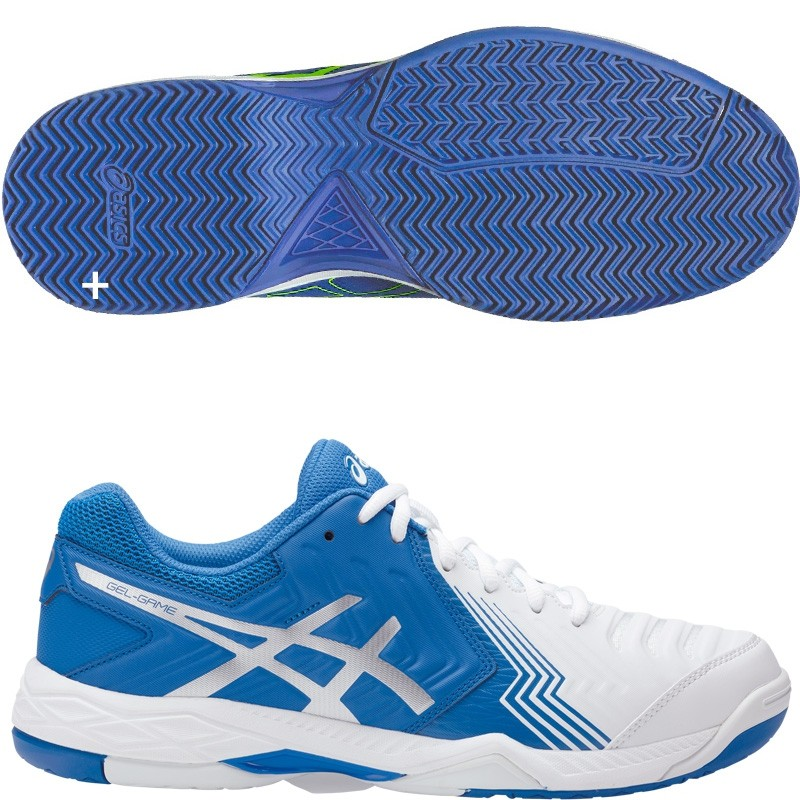 Zapatillas Asics Gel Game 6 Clay White Directoire Blue 2017