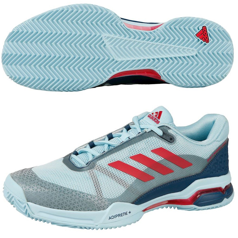 zapatillas Adidas Barricade Club Azules y rojas 2017