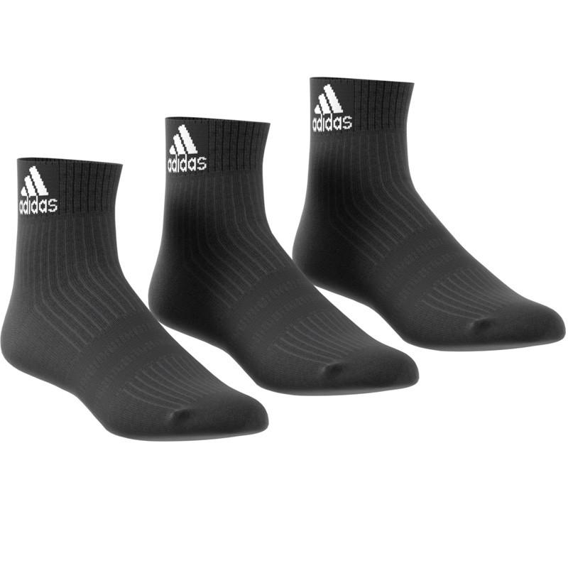 Pack 3 Calcetines Adidas Negros Cortos