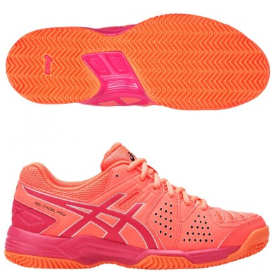 Zapatillas Gel Padel pro 3 SG Flash Coral/ Rouge Woman 2017