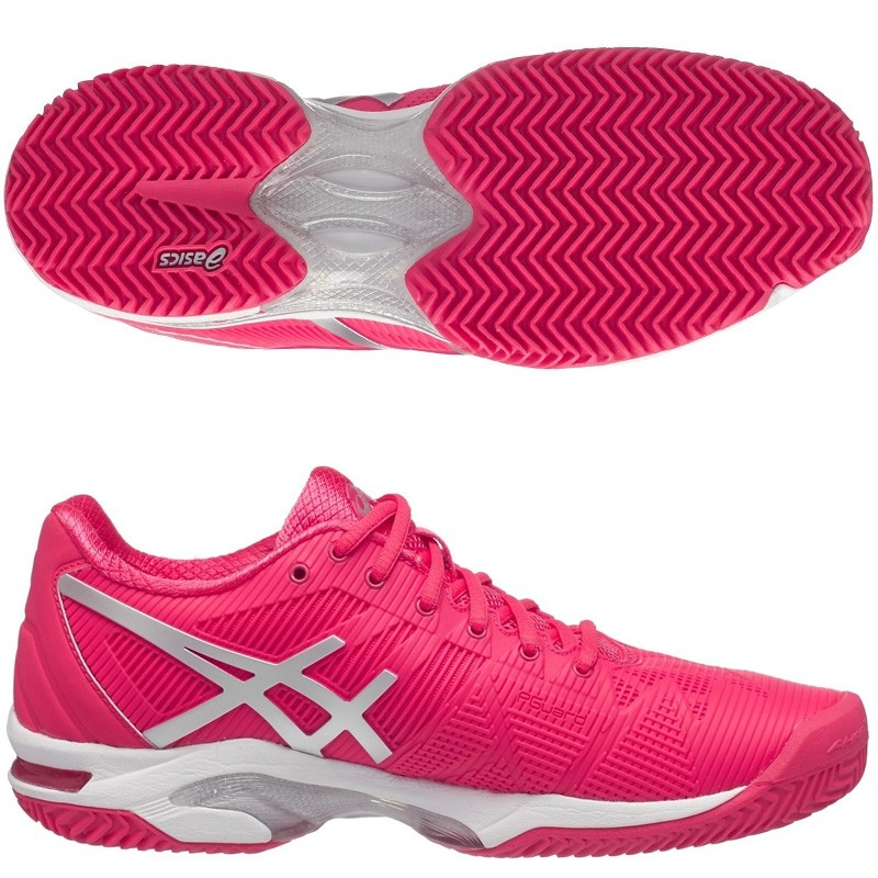 Zapatillas Asics Gel Solution Speed 3 Rouge Red / Silver Woman 2017