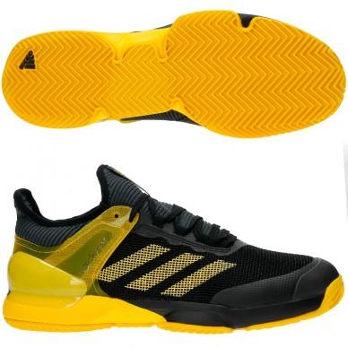 Zapatillas Adizero Ubersonic 2 Black Yellow 2017