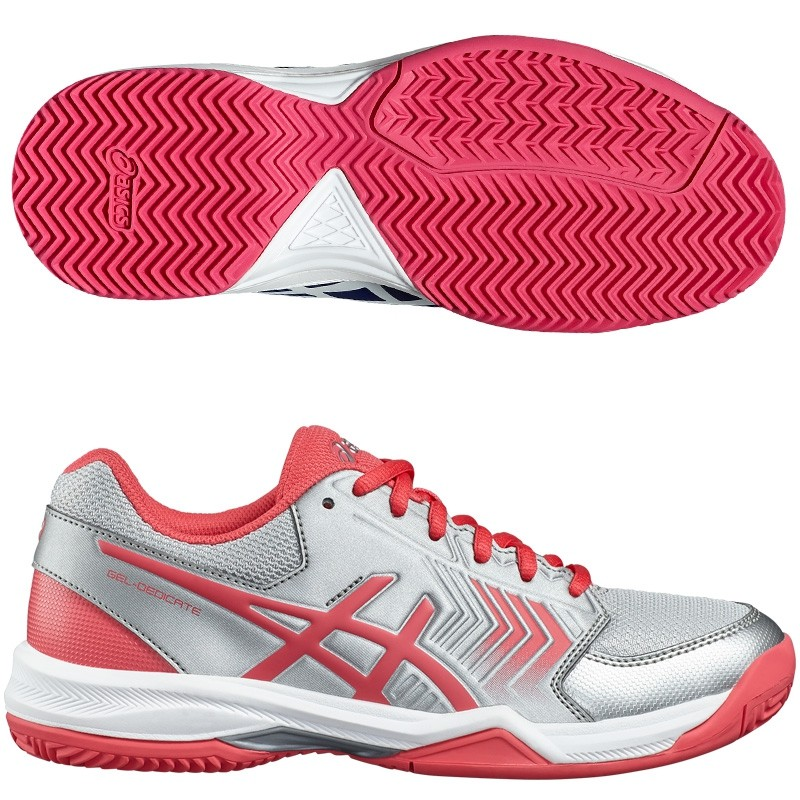 Zapatillas Asics Gel Dedicate 5 Clay Silver / Rouge Red 2017