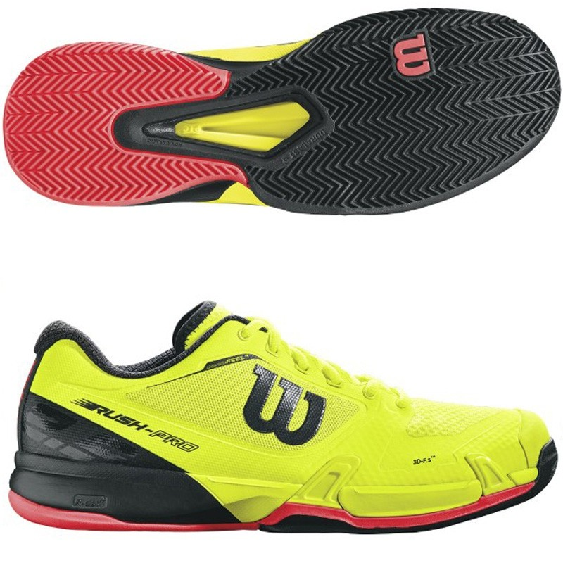 Zapatillas Wilson Rush Pro 2.5 Clay Safety Yellow / Black 2017