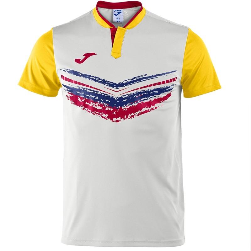 Camiseta Joma Terra II Blanco /  Amarillo 2017