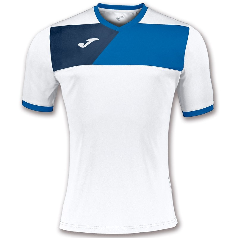 Camiseta Joma Crew II Blanco - Royal 2017