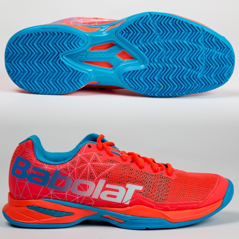 Zapatillas Babolat Jet Team Padel Woman Rouge Fluor 2017