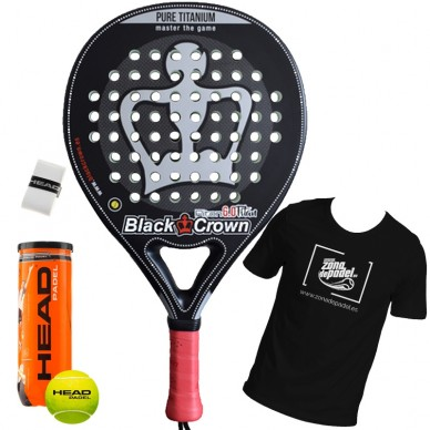 Palas de padel Black Crown Piton 6.0 Titan 2018