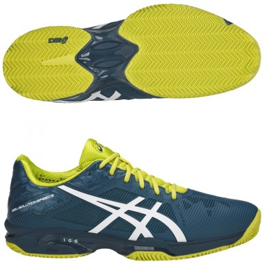 Asics Gel-Solution Speed 3 Clay Ink Blue/White/Sulphur 2018