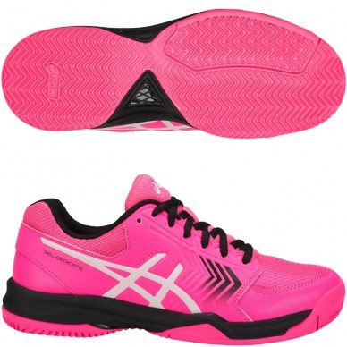 Zapatillas Gel Dedicate 5 Clay Hot Pink / Black 2018