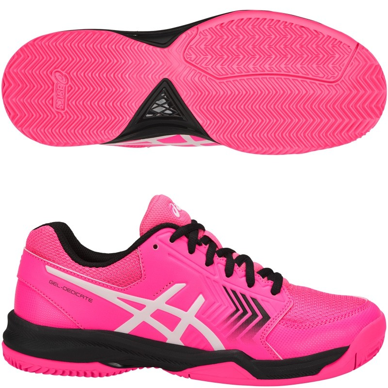Zapatillas ASICS Gel Dedicate 5 Clay Hot Pink / Black 2018