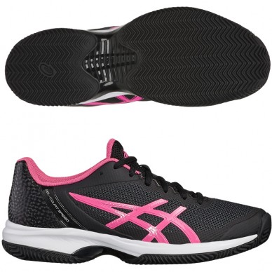 Zapatillas Gel Court Speed Clay Black / Hot Pink 2018