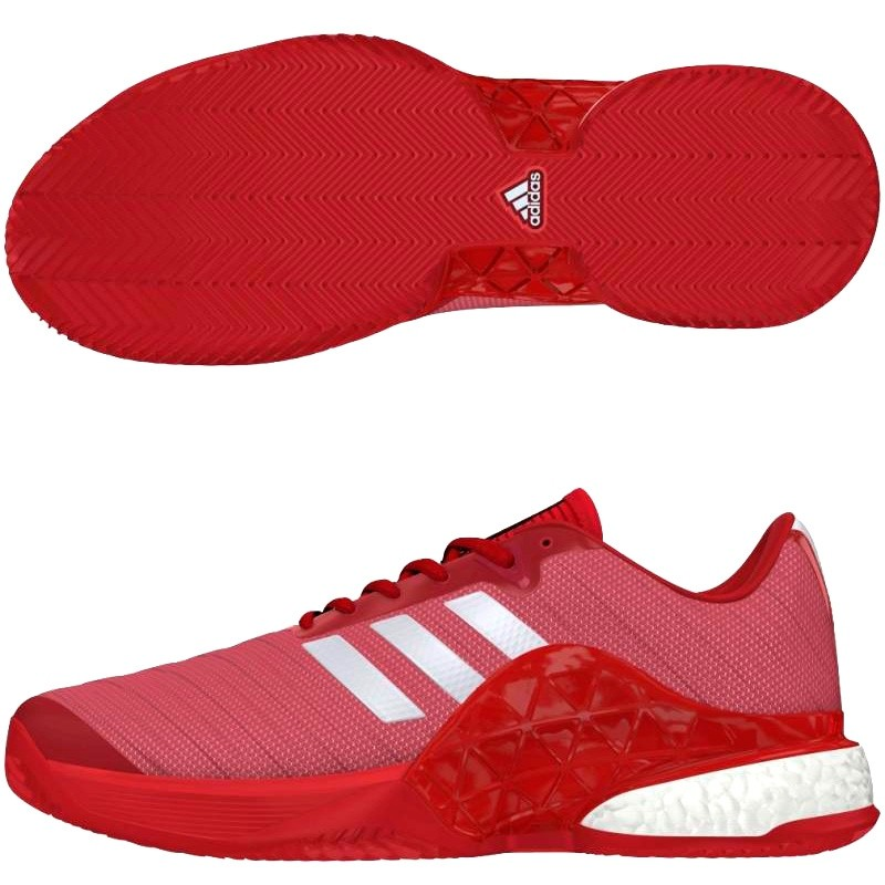 Zapatillas Adidas Barricade Boost Clay Scarlet / White 2018