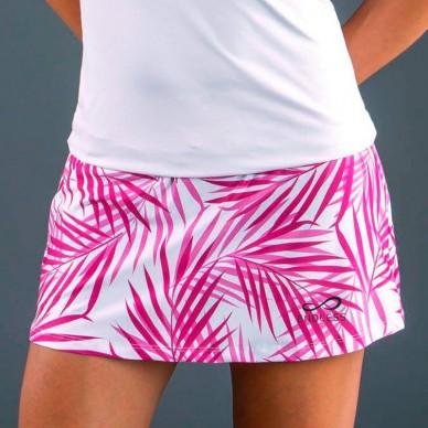 Faldas y vestidos de padel  Skirt Minimal Palms Pink 2018