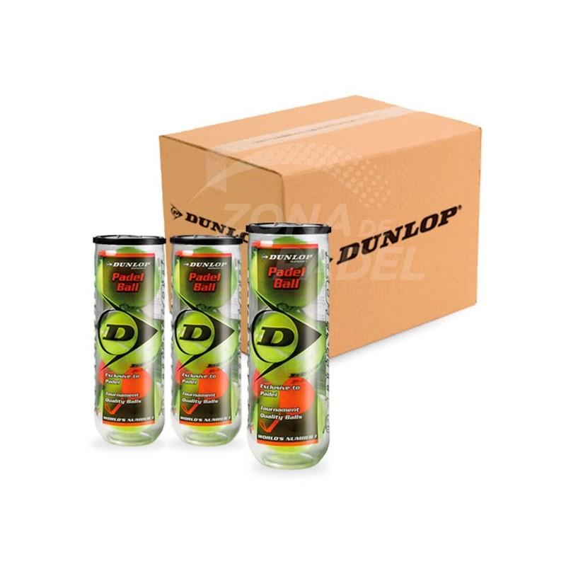 Cajón Pelotas Dunlop Padel 24 x 3 Unidades