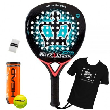 Palas de padel Black Crown Spider 2018