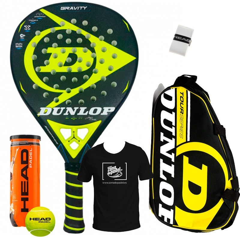 Pack Dunlop Gravity + Paletero Tour Competition Amarillo 2018