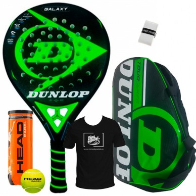 Dunlop Pack Dunlop Galaxy + Paletero Tour Competition Verde 2018