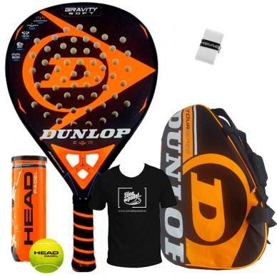 Dunlop Pack Dunlop Gravity Soft + Paletero Tour Competition Naranja 2018