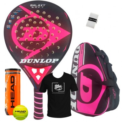 Dunlop Pack Dunlop Galaxy Soft + Paletero Tour Competition Rosa 2018