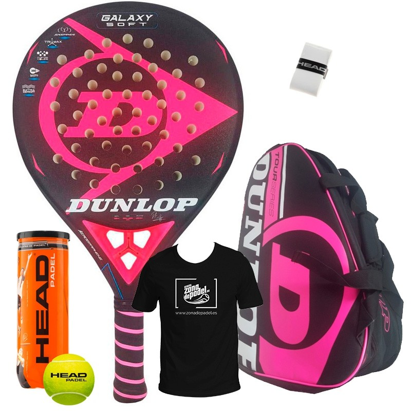Pack Dunlop Galaxy Soft + Paletero Tour Competition Rosa 2018