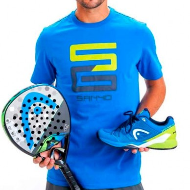 Camisetas de padel  Club Basic T-Shirt Sanyo Blue 2018