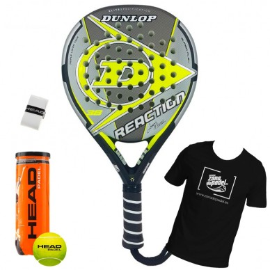 Palas de padel Dunlop  Reaction Yellow G1 H1 2018