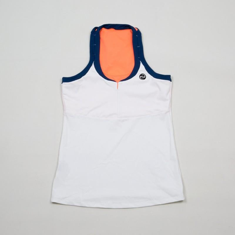 Camiseta Asas Blanco / Coral Flúor 2018