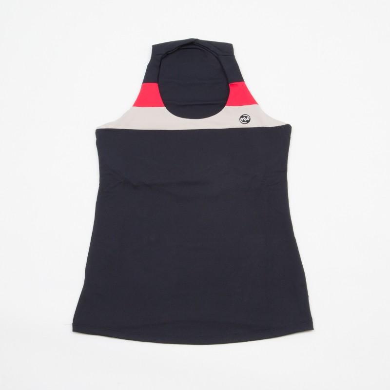 Camiseta Ajustada Negro / Rojo 2018