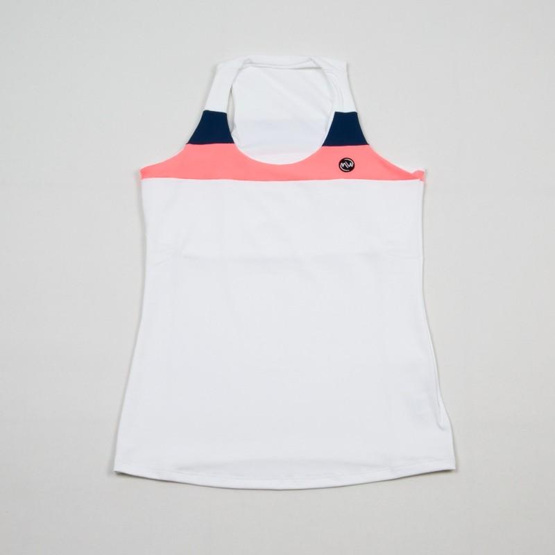 Camiseta EMWEY Ajustada Blanco / Denim 2018