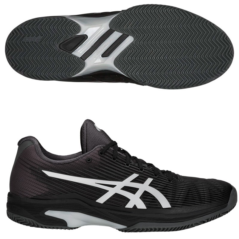 Zapatillas Asics Solution Speed FF Clay Black/Silver 2018