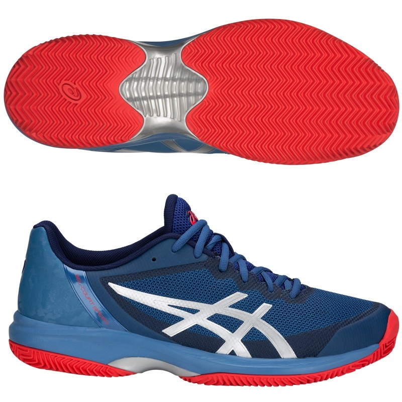 Zapatillas ASICS Gel-Court Speed FF Clay Azure Blue Print 2018