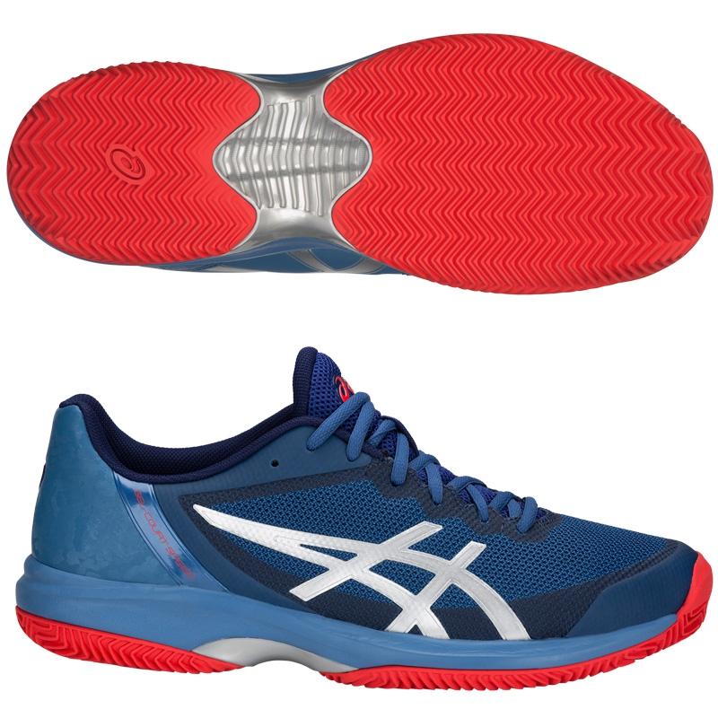 Zapatillas gel-court speed ff clay azure blue print 2018