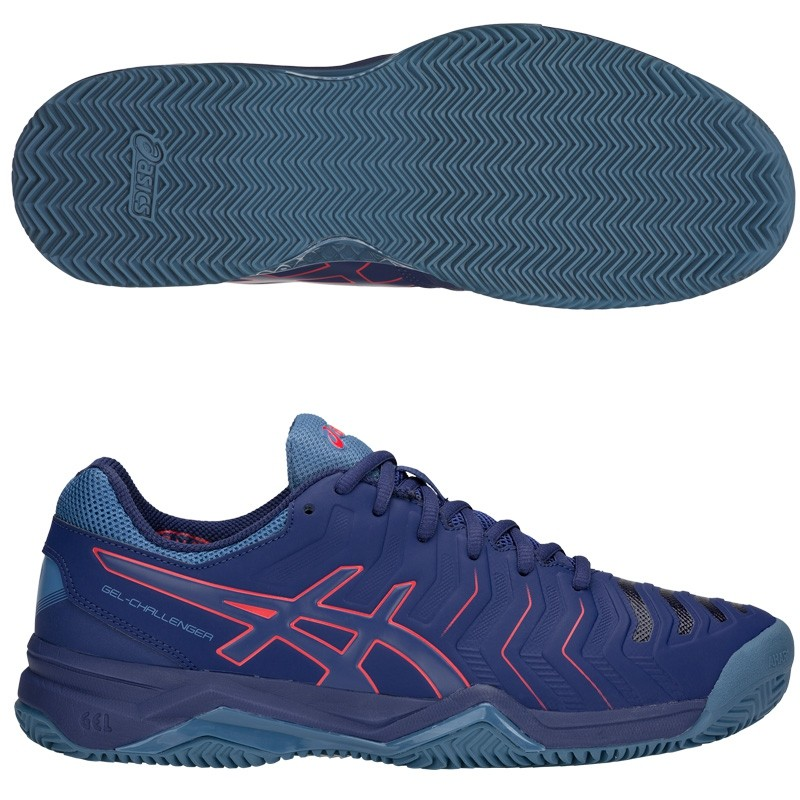 Zapatillas Asics Gel Challenger 11 Clay Blue Print / Red Alert 2018