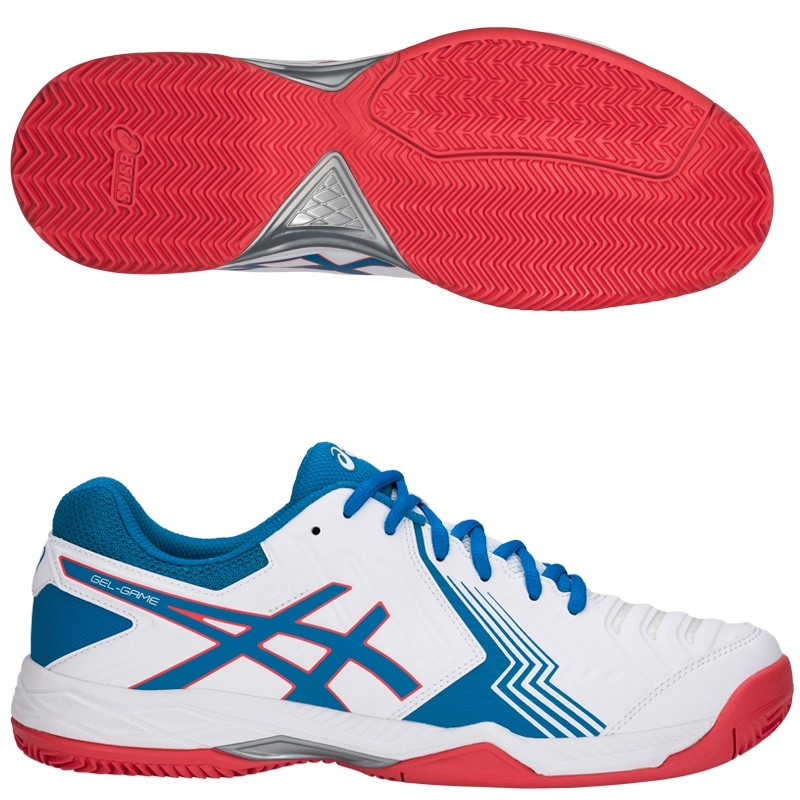 Zapatillas Asics Gel Game 6 Clay White / Race Blue 2018