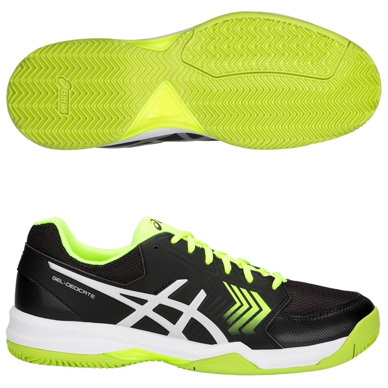 Zapatillas Asics Gel Dedicate 5 Clay Black / Flash Yellow 2018