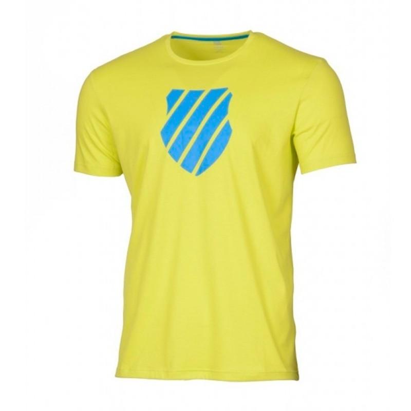 Camiseta Kswiss Logo Neon Citron Blue 2018