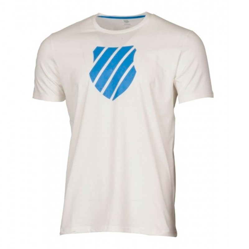 Camiseta Kswiss Logo White/Strong Blue 2018