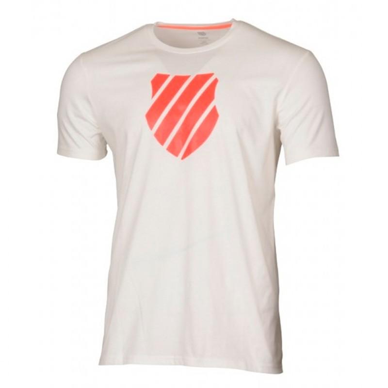 Camiseta Kswiss Logo White/Neon Blazen 2018