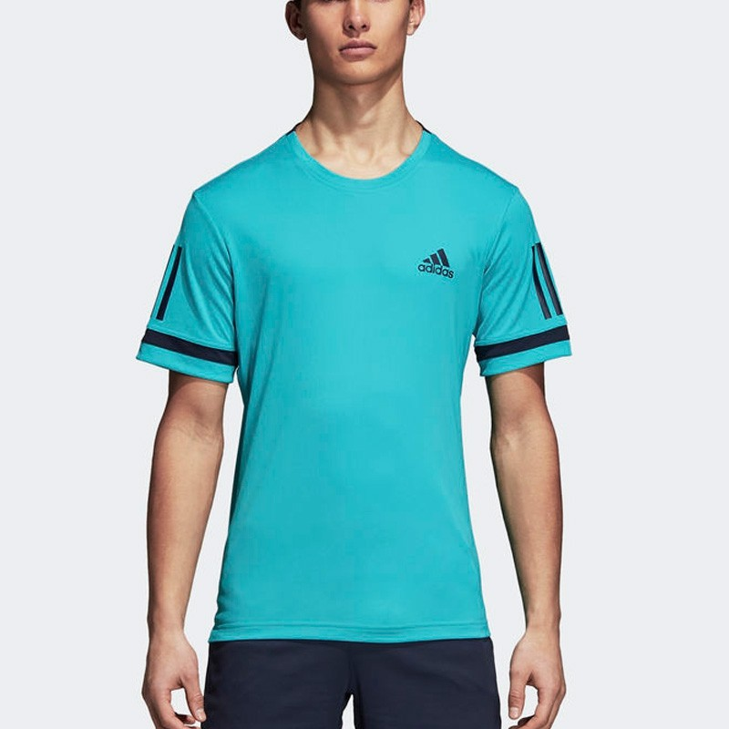 Camiseta Adidas Club 3Str Hi-Res Aqua 2018