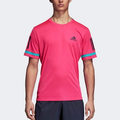 Camisetas de padel  Club 3Str Shock Pink 2018