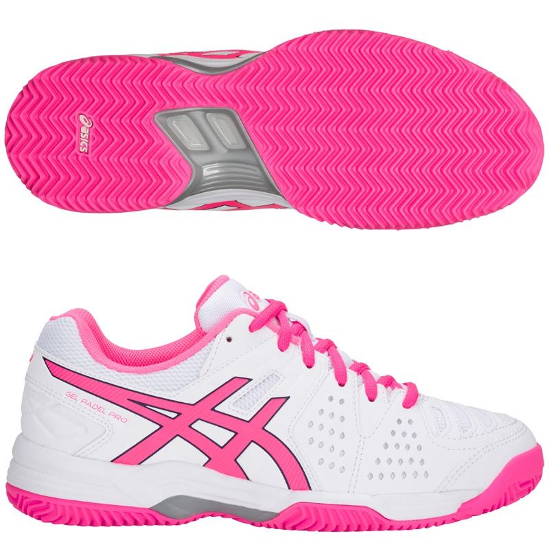 zapatillas Asics Gel Padel Pro 3SG Blancas y Rosas E561Y 100