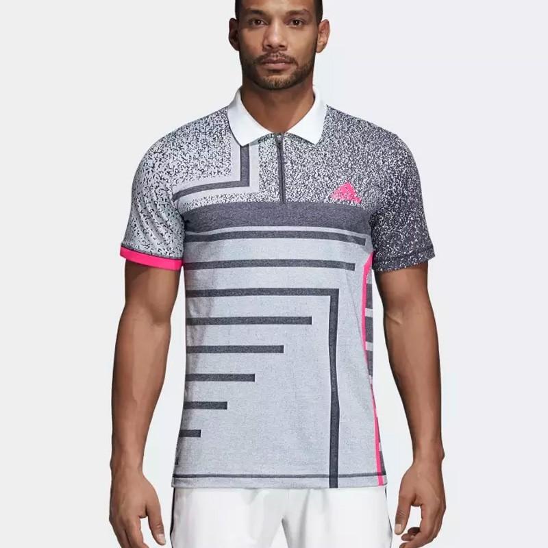 Polo Adidas Seasonal White/Shock Pink 2018