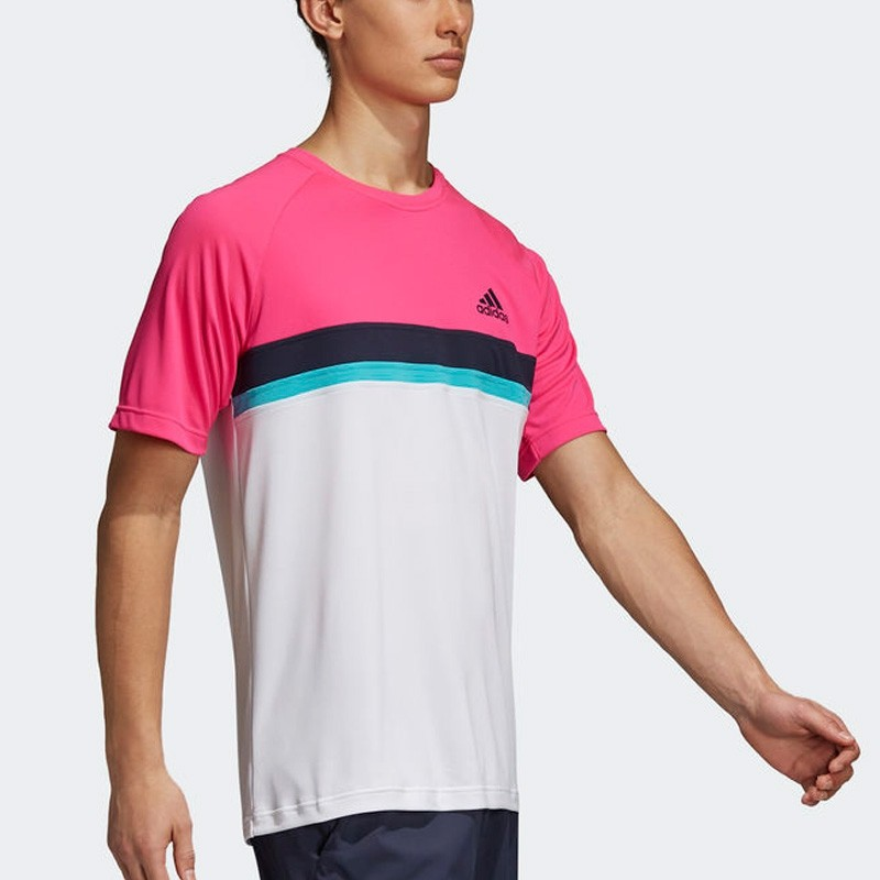 Camiseta Adidas Club C B Shock Pink 2018